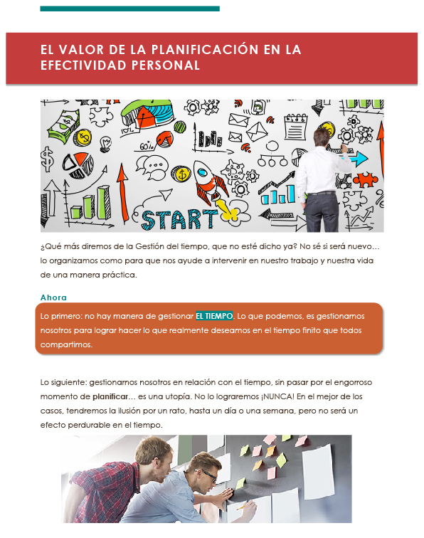 El valor de la planificación en la efectividad personal 1-01-01