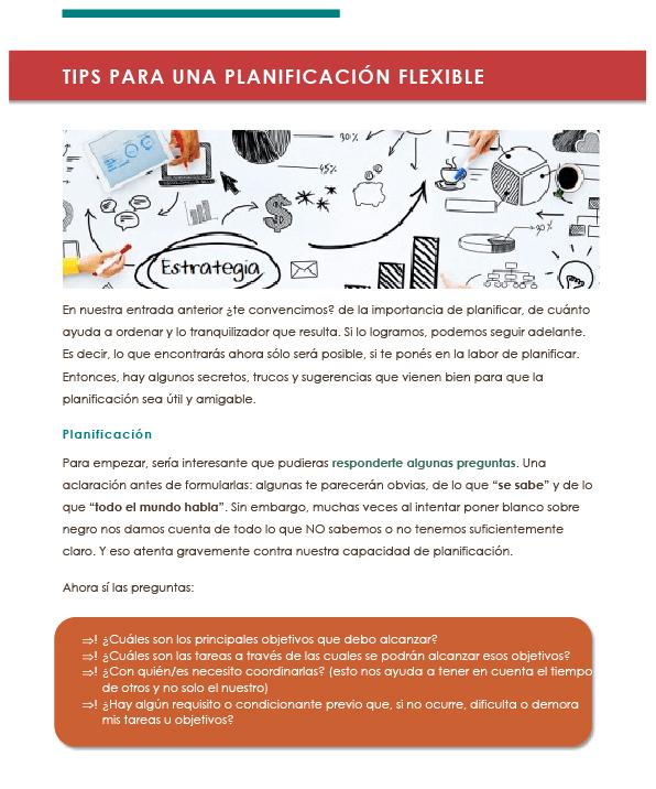 Tips para una planificación flexible 1-01-01